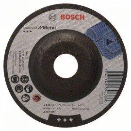 Bosch Nagyolótárcsa, hajlított, Standard for Metal A 24 P BF, 115 mm, 22,23 mm, 6,0 mm