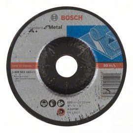 Bosch Nagyolótárcsa, hajlított, Standard for Metal A 24 P BF, 125 mm, 22,23 mm, 6,0 mm