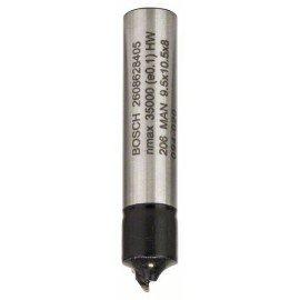 Bosch Negyedpálcatag-marók 8 mm, R1 3,2 mm, D 9,5 mm, L 10,2 mm, G 41 mm