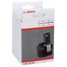 Bosch NiMH akkumulátor, 9,6 V 1,5 Ah, betolható típus, LD