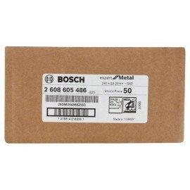 Bosch R444 fíber csiszolótárcsa, Expert for Metal D= 180 mm; G= 60