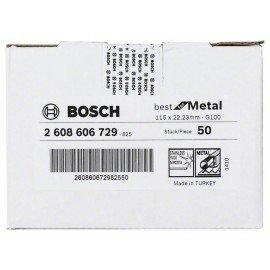 Bosch R574 fíber csiszolótárcsa, Best for Metal D= 115 mm; G= 100