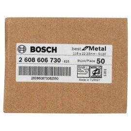 Bosch R574 fíber csiszolótárcsa, Best for Metal D= 115 mm; G= 120
