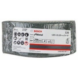 Bosch R774 fíber csiszolótárcsa, Best for Metal 125 mm, 22,23 mm, 120