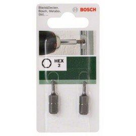 Bosch Standard HEX csavarozóbit Hatszögletű HEX 2