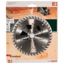 Bosch STANDARD körfűrészlap D= 150 mm; Furat= 20 mm; Z= 40