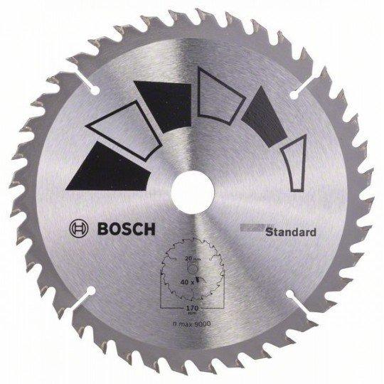 Bosch STANDARD körfűrészlap D= 170 mm; Furat= 20 mm; Z= 40