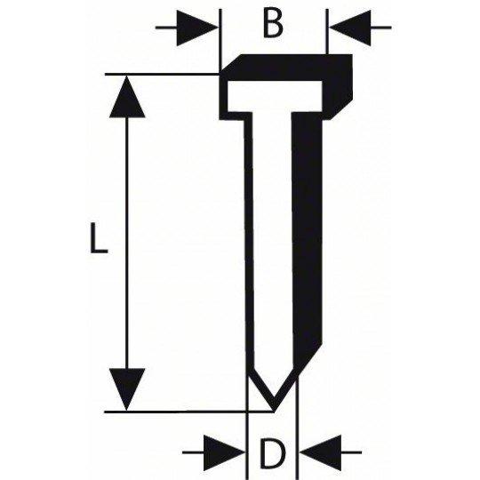 Bosch Süllyesztett fejű csap, SK50 16G 1,2 mm, 16 mm, horganyzott