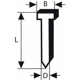 Bosch Süllyesztett fejű csap, SK50 25G 1,2 mm, 25 mm, horganyzott