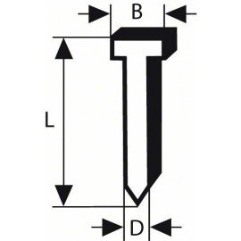 Bosch Süllyesztett fejű csap, SK50 30G 1,2 mm, 30 mm, horganyzott