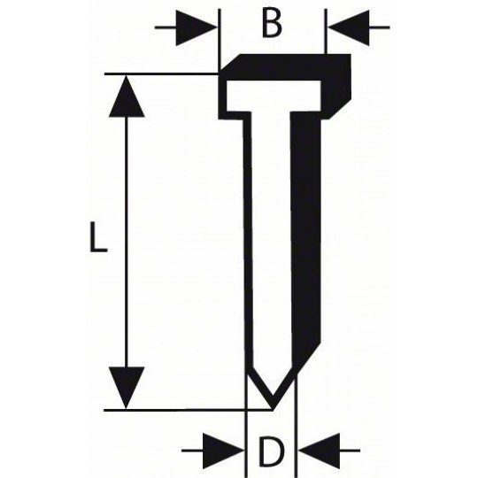 Bosch Süllyesztett fejű csap, SK64 20G 50 mm, horganyzott