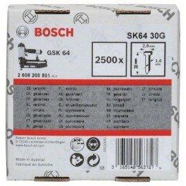 Bosch Süllyesztett fejű csap, SK64 30G 1,6 mm, 30 mm, horganyzott