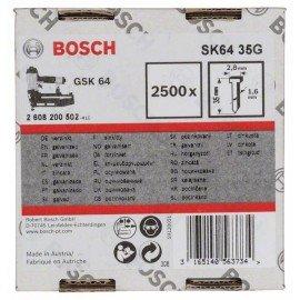 Bosch Süllyesztett fejű csap, SK64 35G 1,6 mm, 35 mm, horganyzott