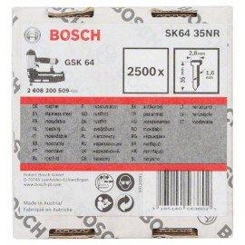 Bosch Süllyesztett fejű csap, SK64 35NR 1,6 mm, 35 mm, rozsdamentes (A2/1,4301)