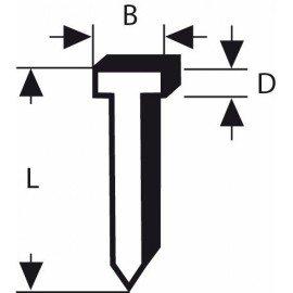 Bosch Szög 49-as típus 49-es típus; L= 25,0 mm