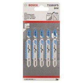 Bosch Szúrófűrészlap T 118 GFS Basic for Inox
