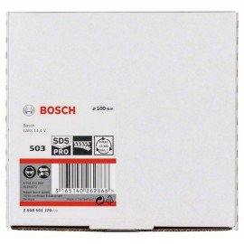 Bosch Tépőzáras csiszolótányér, SDS-pro 100 mm, lyuggatás nélküli, tépőzár