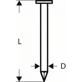 Bosch Tetőfedőlemez-szeg, CN 45-15 HG 38 mm, tüzihorganyzott