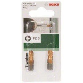 Bosch Titanium PZ csavarozóbit Pozidriv Pz 3 kereszthorony