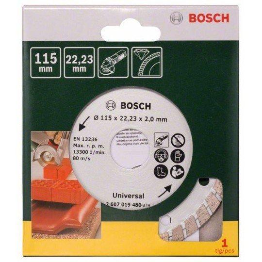 Bosch Turbo gyémánt vágótárcsa, Ø 115 mm