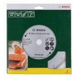 Bosch Turbo gyémánt vágótárcsa, Ø 230 mm