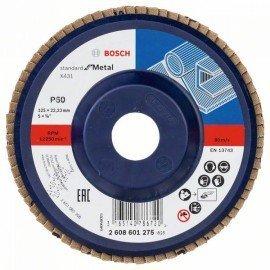 Bosch X431 legyező csiszolótárcsa, Standard for Metal 125 mm, 22,23 mm, 60