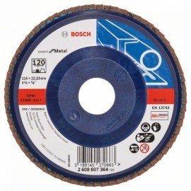 Bosch X551 fíber csiszolótárcsa D= 115 mm; G= 120, egyenes
