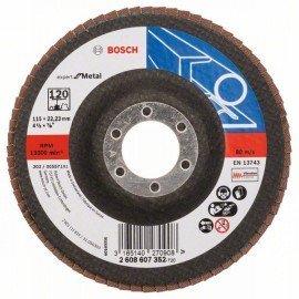 Bosch X551 fíber csiszolótárcsa D= 115 mm; G= 120, hajlított