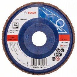 Bosch X551 fíber csiszolótárcsa D= 115 mm; G= 40, egyenes