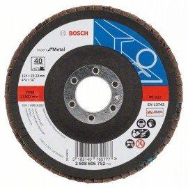 Bosch X551 fíber csiszolótárcsa D= 115 mm; G= 40, hajlított