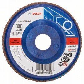 Bosch X551 fíber csiszolótárcsa D= 115 mm; G= 60, egyenes