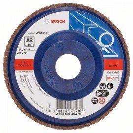 Bosch X551 fíber csiszolótárcsa D= 115 mm; G= 80, egyenes