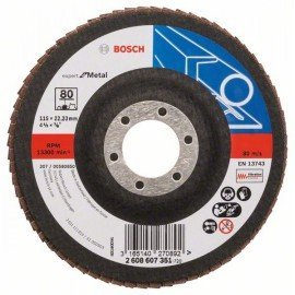 Bosch X551 fíber csiszolótárcsa D= 115 mm; G= 80, hajlított