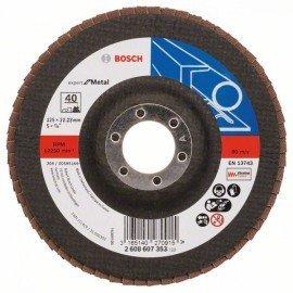 Bosch X551 fíber csiszolótárcsa D= 125 mm; G= 40, hajlított