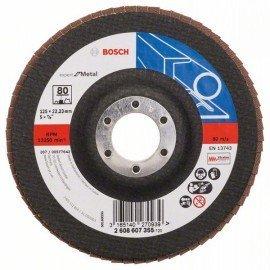 Bosch X551 fíber csiszolótárcsa D= 125 mm; G= 80, hajlított