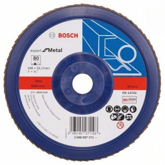 Bosch X551 fíber csiszolótárcsa D= 180 mm; G= 80, egyenes