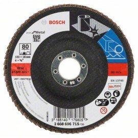 Bosch X571 fíber csiszolótárcsa, Best for Metal D= 100 mm; G= 80, hajlított