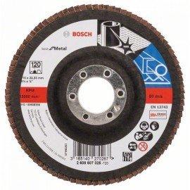 Bosch X571 fíber csiszolótárcsa, Best for Metal D= 115 mm; G= 120, egyenes