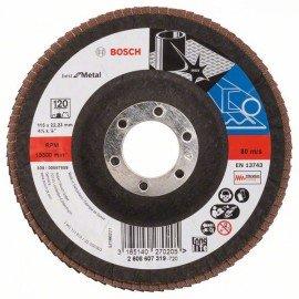 Bosch X571 fíber csiszolótárcsa, Best for Metal D= 115 mm; G= 120, hajlított