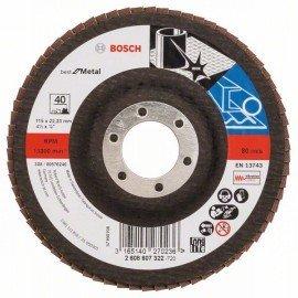 Bosch X571 fíber csiszolótárcsa, Best for Metal D= 115 mm; G= 40, egyenes