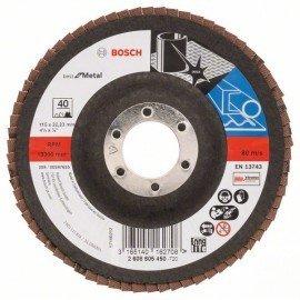 Bosch X571 fíber csiszolótárcsa, Best for Metal D= 115 mm; G= 40, hajlított