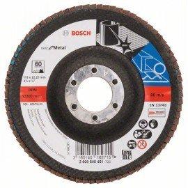 Bosch X571 fíber csiszolótárcsa, Best for Metal D= 115 mm; G= 60, hajlított
