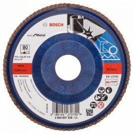 Bosch X571 fíber csiszolótárcsa, Best for Metal D= 115 mm; G= 80, egyenes