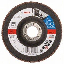 Bosch X571 fíber csiszolótárcsa, Best for Metal D= 125 mm; G= 120, egyenes