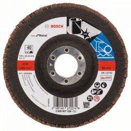 Bosch X571 fíber csiszolótárcsa, Best for Metal D= 125 mm; G= 40, egyenes