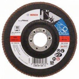 Bosch X571 fíber csiszolótárcsa, Best for Metal D= 125 mm; G= 80, egyenes