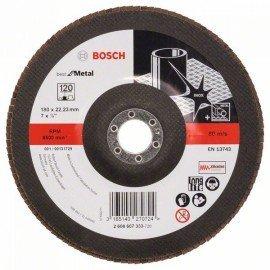 Bosch X571 fíber csiszolótárcsa, Best for Metal D= 180 mm; G= 120, egyenes