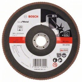 Bosch X571 fíber csiszolótárcsa, Best for Metal D= 180 mm; G= 120, hajlított