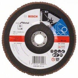 Bosch X571 fíber csiszolótárcsa, Best for Metal D= 180 mm; G= 40, hajlított