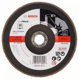Bosch X571 fíber csiszolótárcsa, Best for Metal D= 180 mm; G= 80, hajlított
